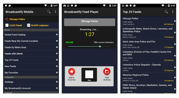 Broadcastify Mobile Apps